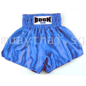 Muay Thai Shorts PLAIN blue - Boon Sport