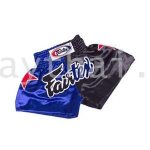 Black & Blue Satin w/ Fairtex