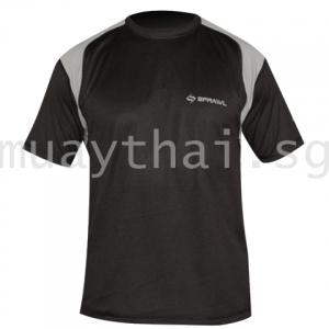 Short Sleeve Performance Tee Hook-Black/Gray - SPRAWL