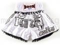 Muay Thai Shorts WHITE WARRIOR - Boon Sport