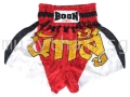 Muay Thai Shorts RED & WHITE WARRIOR - Boon Sport
