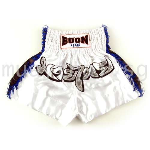 Muay Thai Shorts BLUE FRINGE - Boon Sport 15