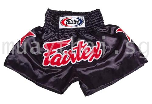 Black muay thai shorts Satin - Fairtex